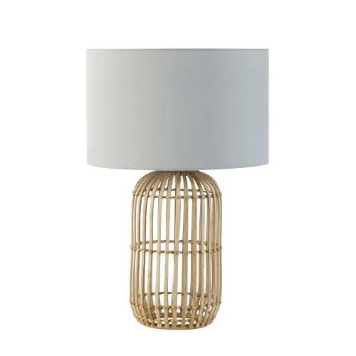 Lámparas de mesa | Lamparas de mimbre, Muebles de teca