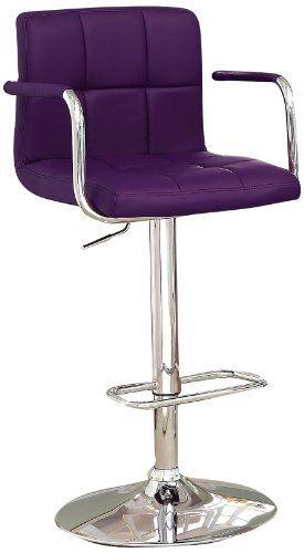 furniture of america modern chelsea leatherette swivel bar