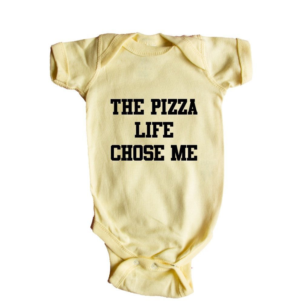 The Pizza Life Chose Me Pizza Maker Lover Tossing Cooking Eating Nom Nom Pizzatarian Pepperoni Cheese Funny SGAL1 Baby Onesie / Tee