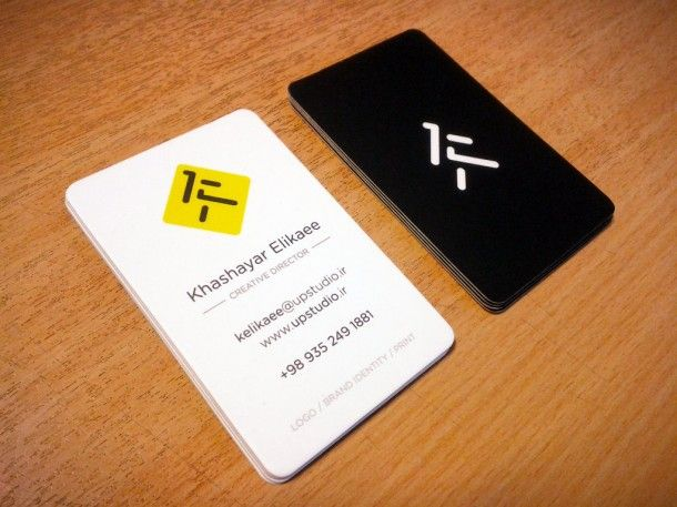 UP Studio Business cards, on laminated paper with spot UV - visiting cards