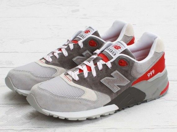 half off 189d6 ec077 New Balance 999 Elite – Grey – Red | Style-Shoes/Boots ...