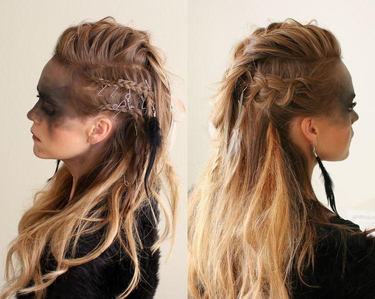 Wikinger Frisuren Flechten Selber Machen Wikinger Frisuren Geflochtene Frisuren Viking Frisur