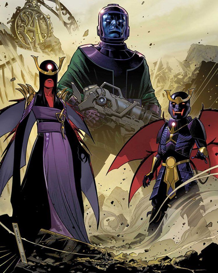 Kang with Uriel & Eimin The Twin Children of Archangel (conceived during the Dark Angel Saga with one of his horsemen)  #marvelcomics #Comics #marvel #comicbooks #avengers #captainamericacivilwar #xmen #xmenapocalypse   #captainamerica #ironman #thor #hulk #hawkeye #blackwidow #spiderman #vision #scarletwitch #civilwar #spiderman #infinitygauntlet #blackpanther #guardiansofthegalaxy #deadpool #wolverine #daredevil #drstrange #infinitywar #archangel #magneto #cyclops http://ift.tt/1UhxTGg
