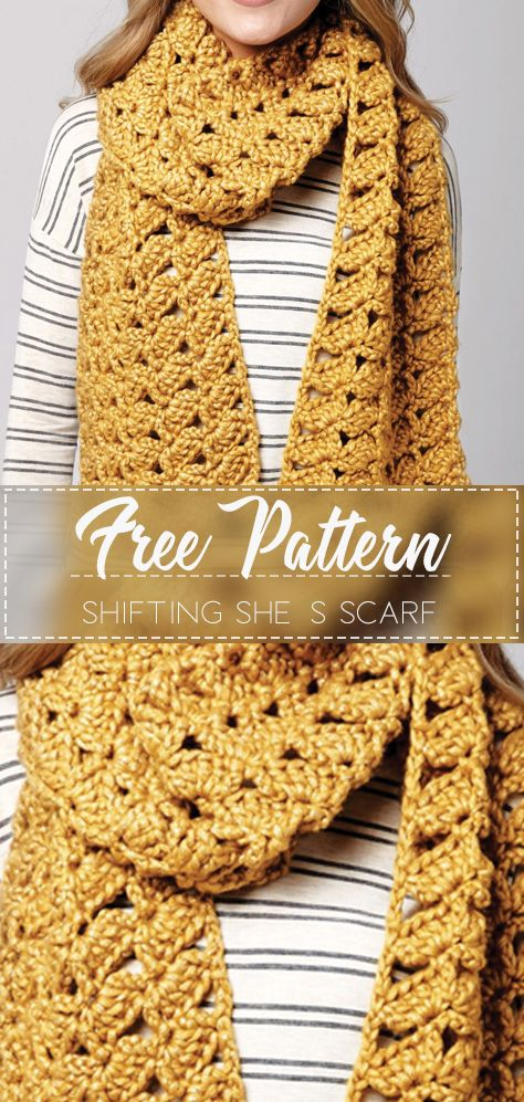 Shifting Shells Scarf Free Crochet Pattern Crochet Love