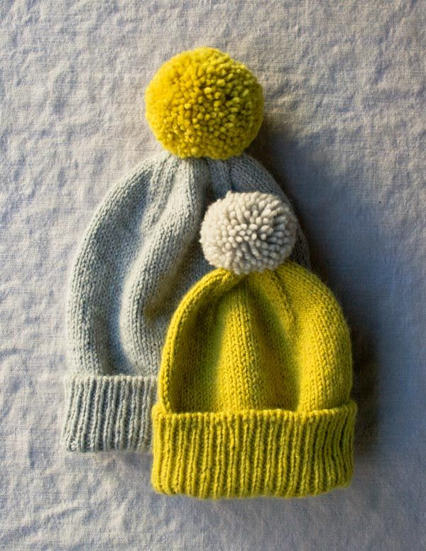 Classic Cuffed Knit Hat Pattern from Purl Soho- Free. Sizes: Baby, Kid, Adult
