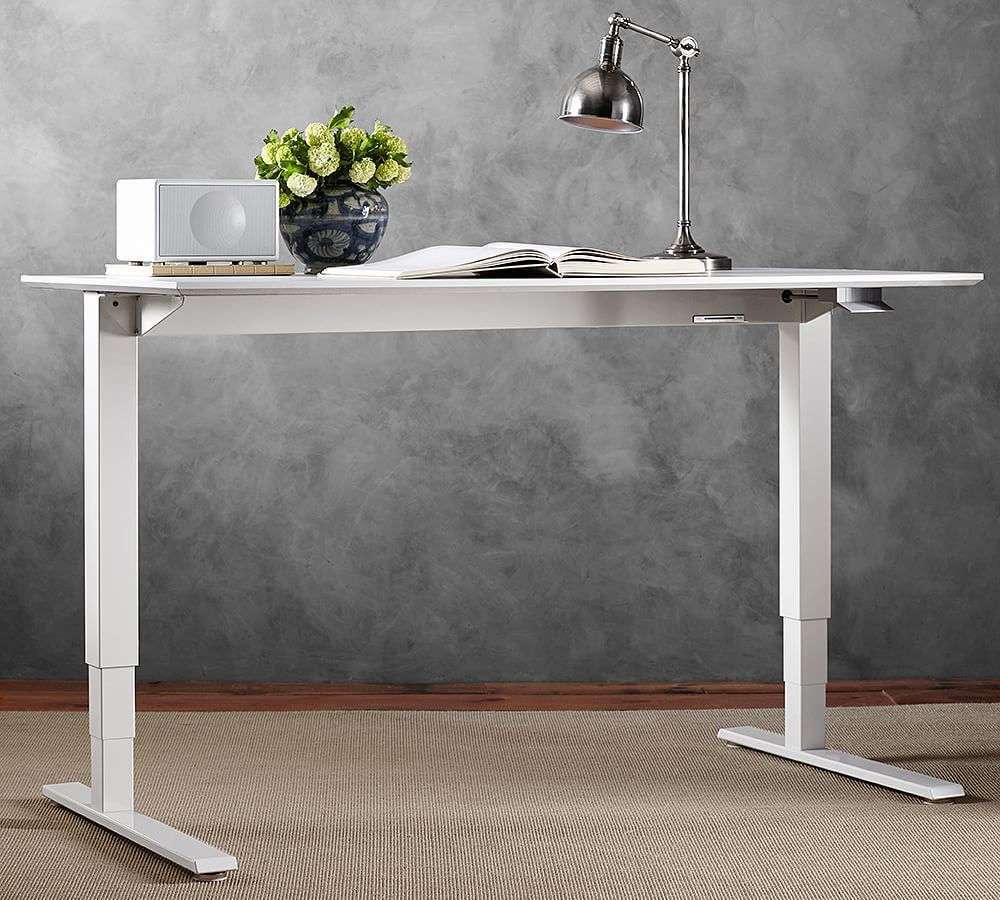 Humanscale Float Sit Stand Desk White Base Sit Stand Desk White Desks Classic Office Furniture
