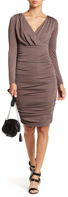 Do & Be Do + Be Surplice Shirred Dress