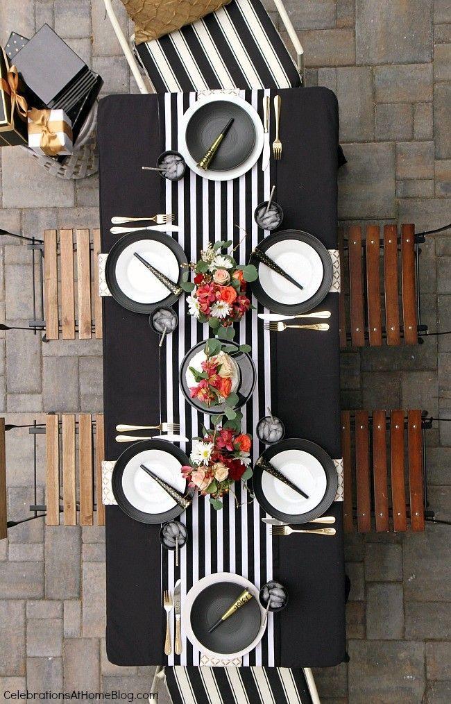 Black U0026 White Celebration Tabletop