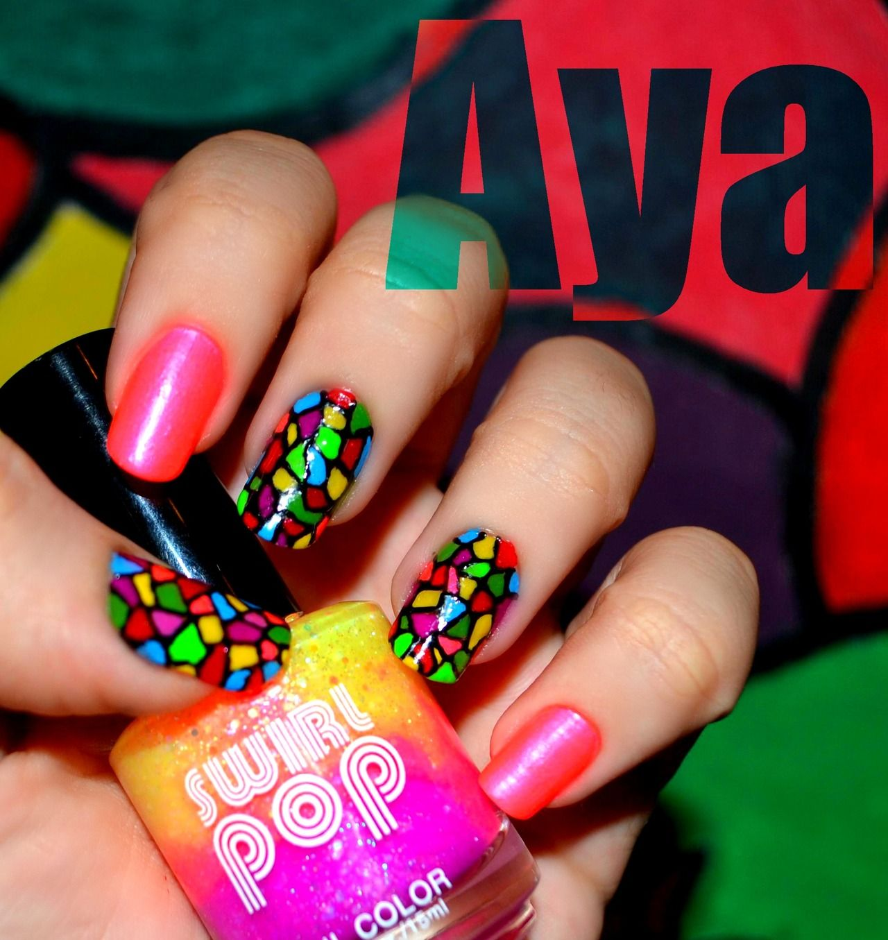 Colorful Neon Color Nail Art Ideas Just For You   Neon nail art ...