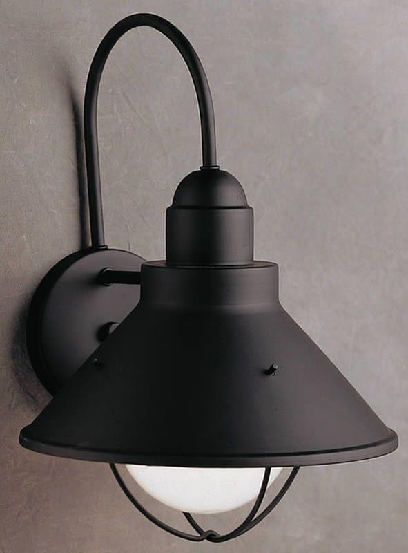0 002147 14 H Seaside 1 Light Outdoor Wall Lantern Black Barn Lightinghouse