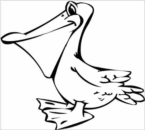 pelican coloring page Google Search painting ideas Pinterest
