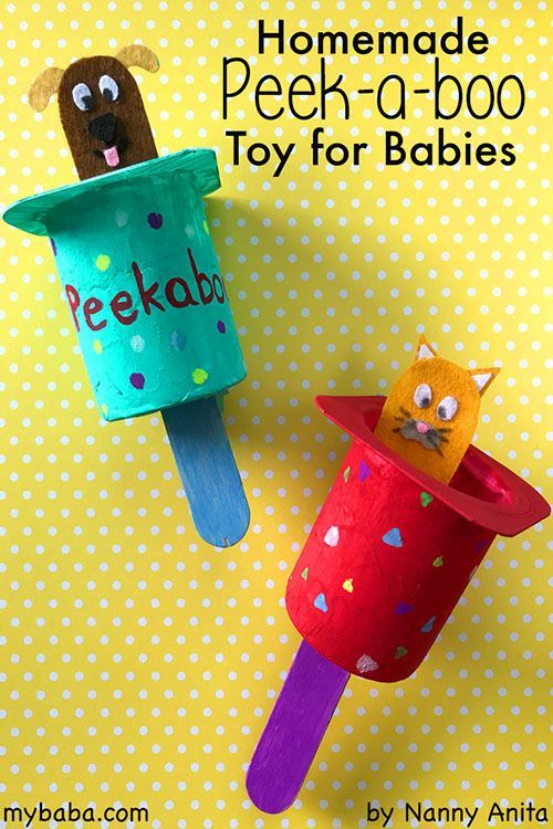 Homemade Peek-a-Boo Toy for Babies | Homemade baby toys ...