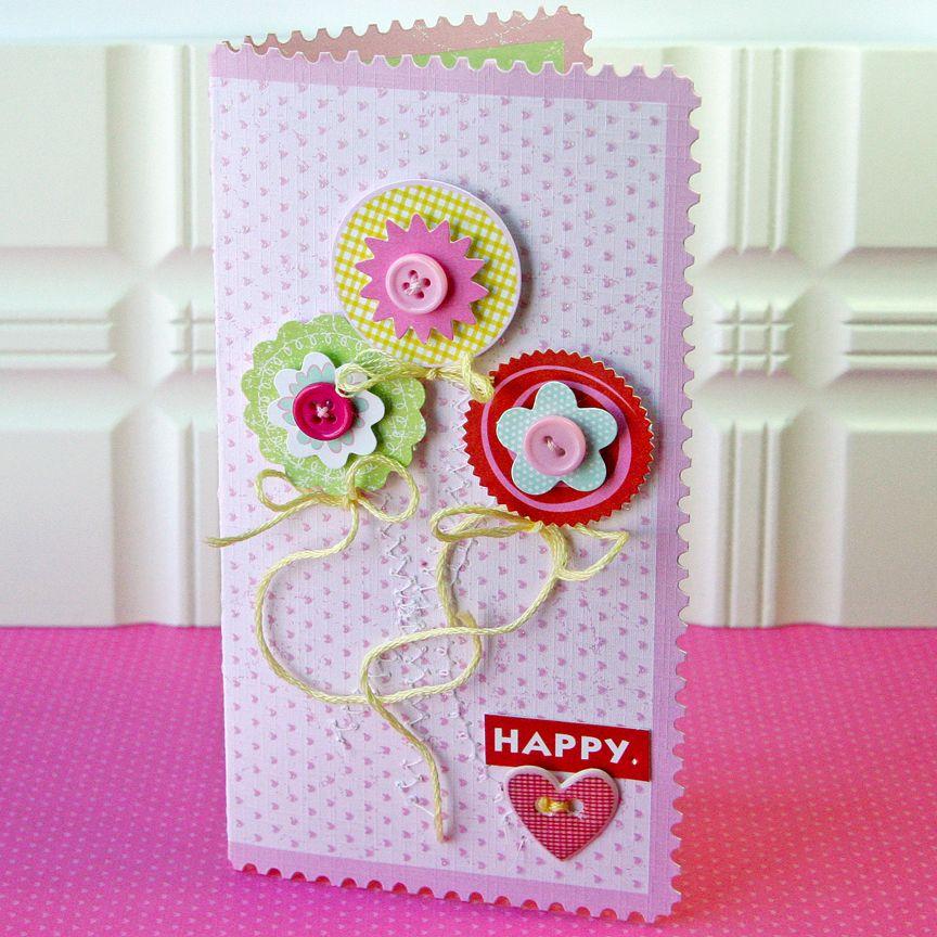 Happy Heart card - Scrapbook.com
