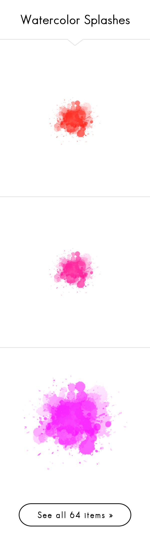 watercolor splashes by neamisra liked on polyvore featuring polypaint splash effects paint. Black Bedroom Furniture Sets. Home Design Ideas