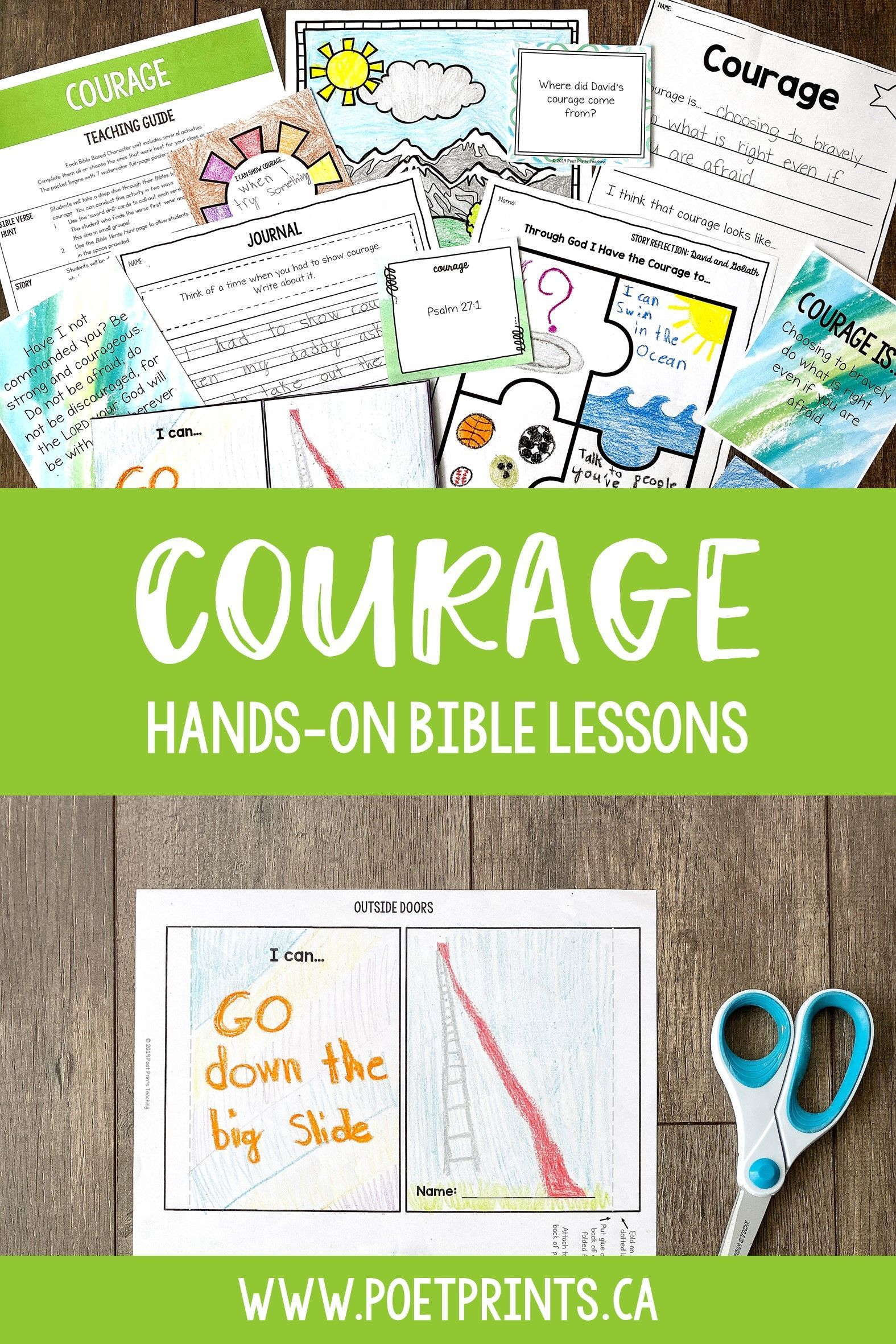 Courage Bible Based Character Education Lessons