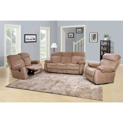Beau Red Barrel Studio Topeka 3 Piece Living Room Set