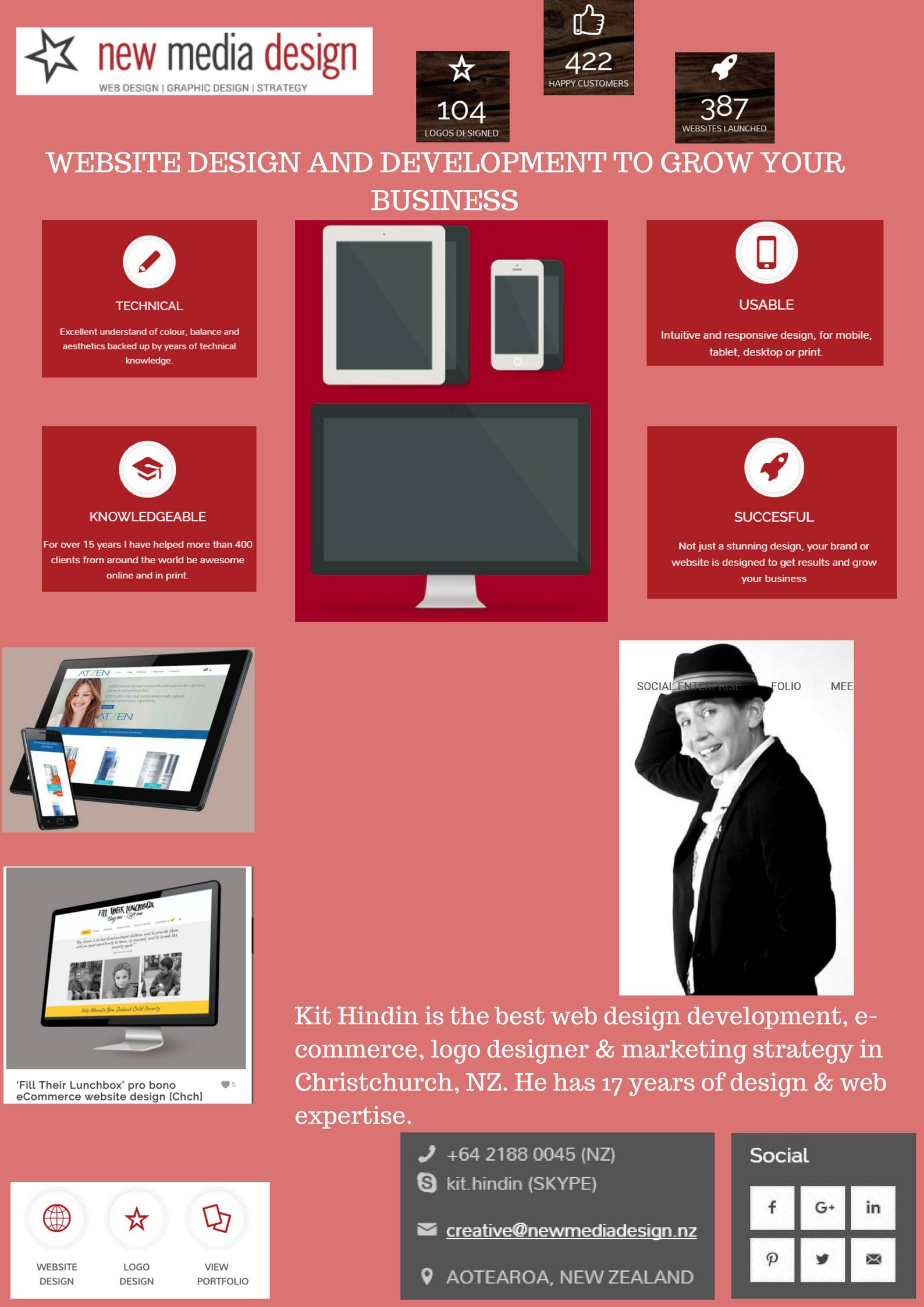 A Beautiful Website Design That Generates More Business Media Design Website Design Web Development Design