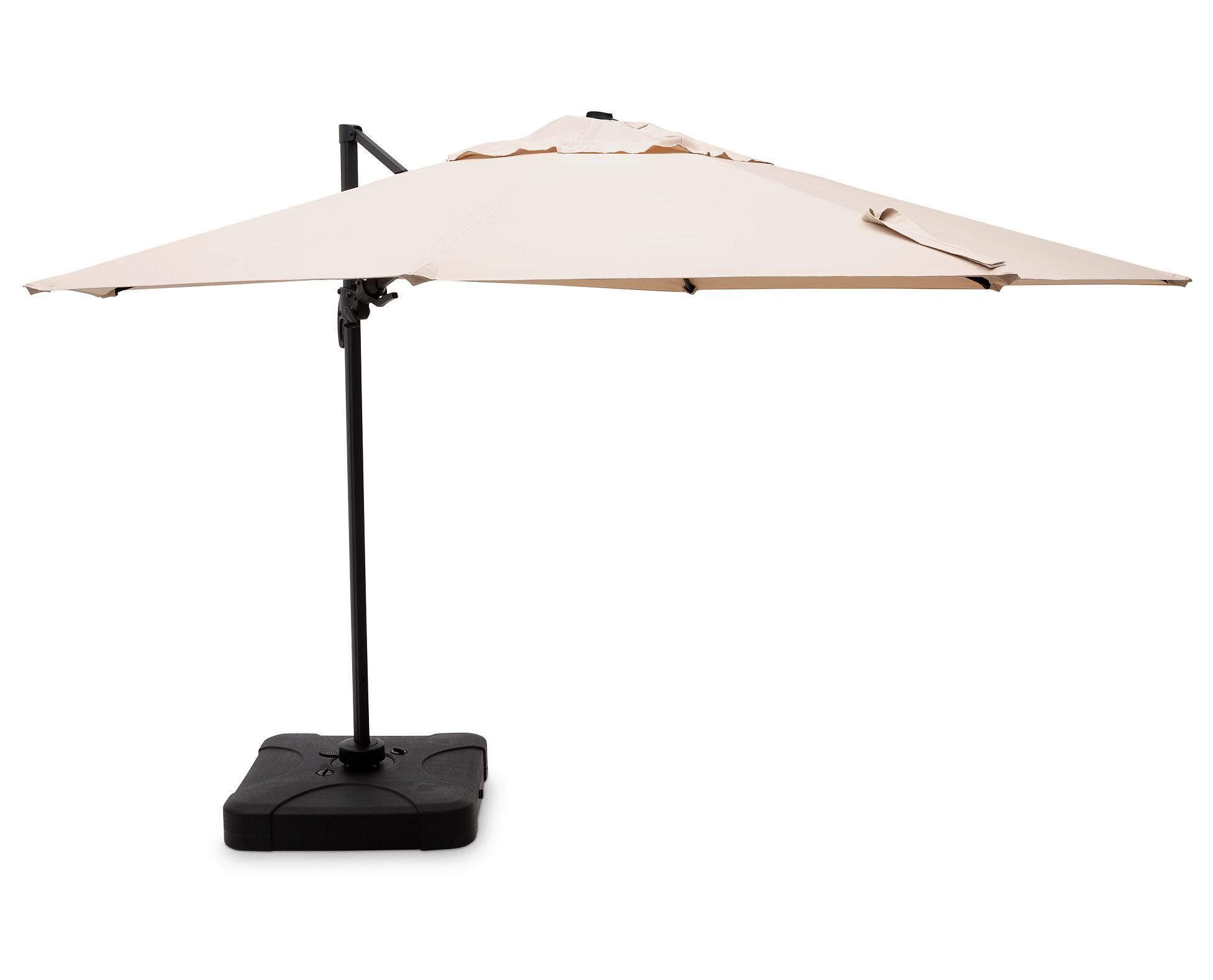 Trasimeno 11 Ft Cantilever Umbrella With Stand Is Discounted At Clearance Pricing While Supplies Last C Patio Umbrella Rectangular Patio Umbrella Umbrella