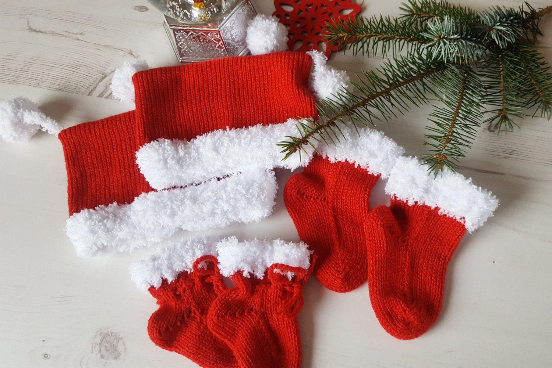 Christmas baby set baby socks baby christmas hat by