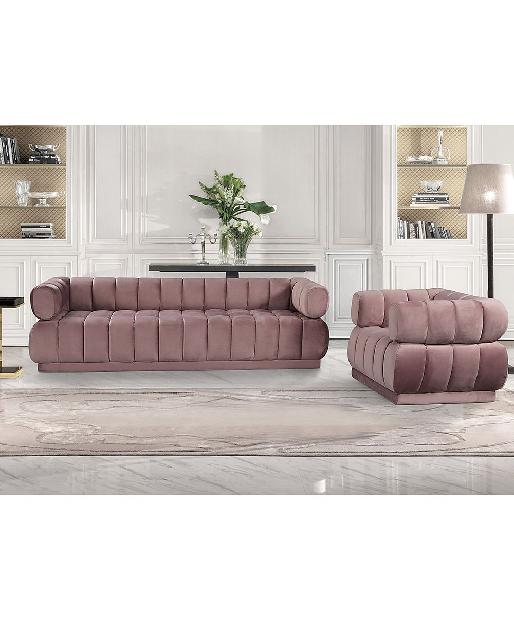 Iconic Home Blush Alberta Velvet Arm Chair Zulily Sofa