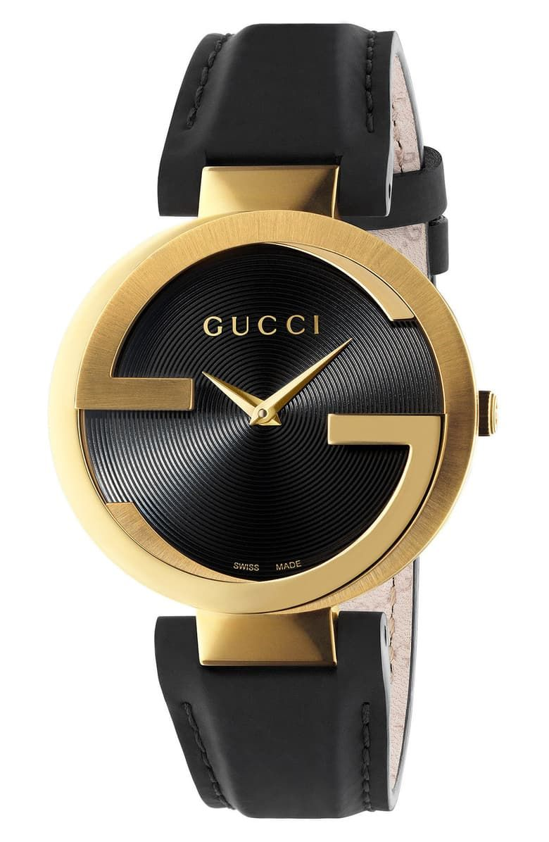 Gucci Interlocking Leather Strap Watch, 37mm in 2020