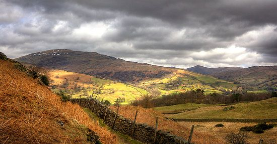 The view from Loughrigg Fell, Lake District, Cumbria