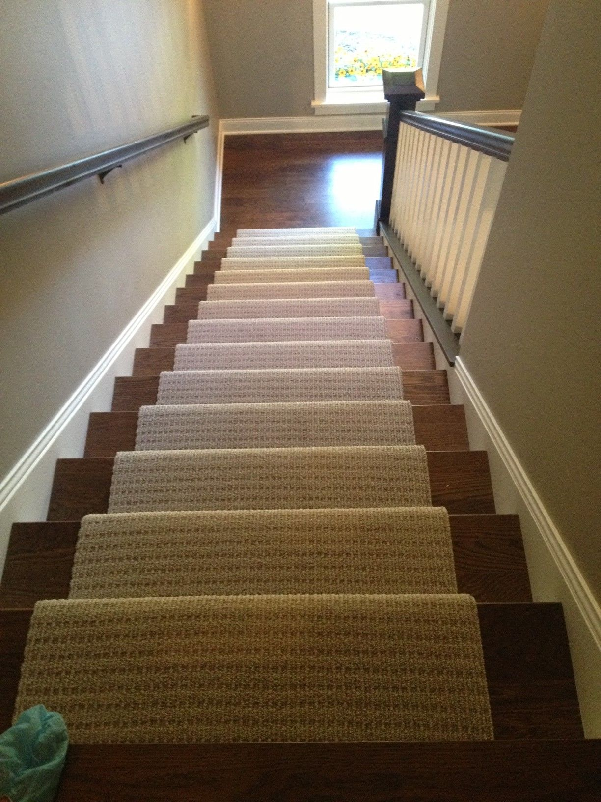 Wood And Carpet Runner Stairs For My Upstairs Living