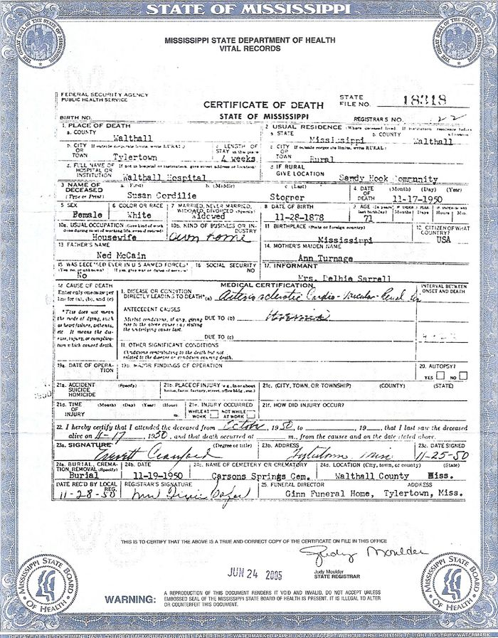 Step By Step Mississippi Research 1880 Present Birth Certificate Template Mississippi Death Certificate