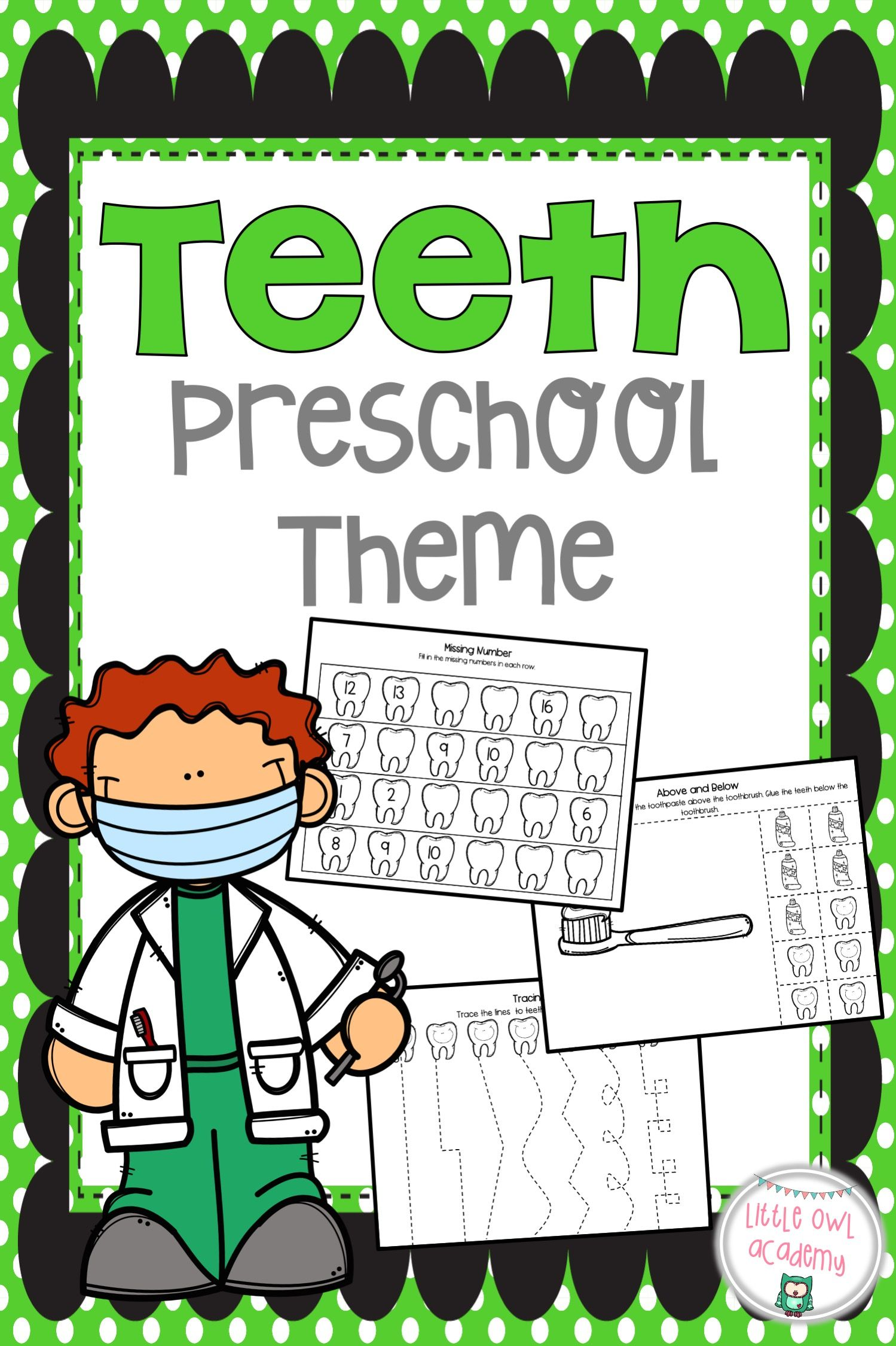 Teeth Preschool Packet