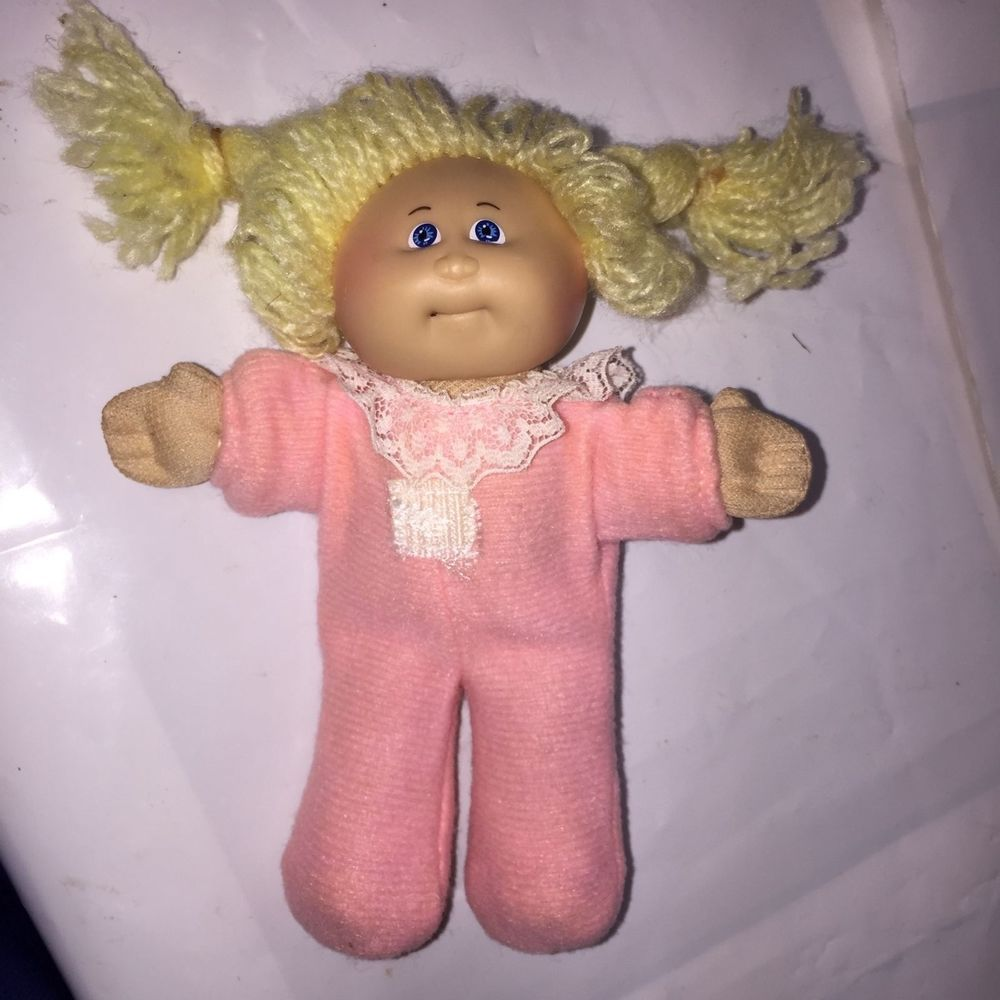 Blonde Cabbage Patch Kid w plush body - Vintage Cabbage Patch mini ...