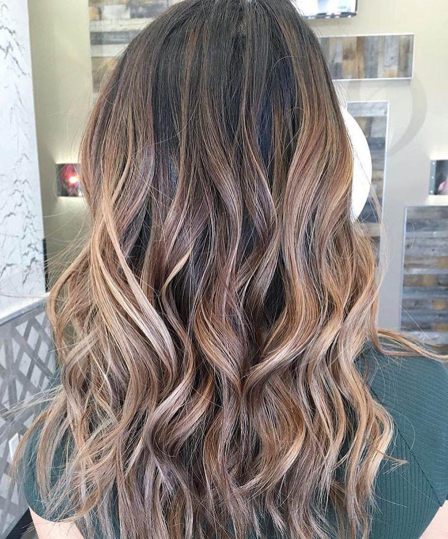 Калифорнийское мелирование на темные волосы