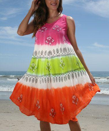This Pink & Orange Stripe Shift Dress - Women is perfect! #zulilyfinds