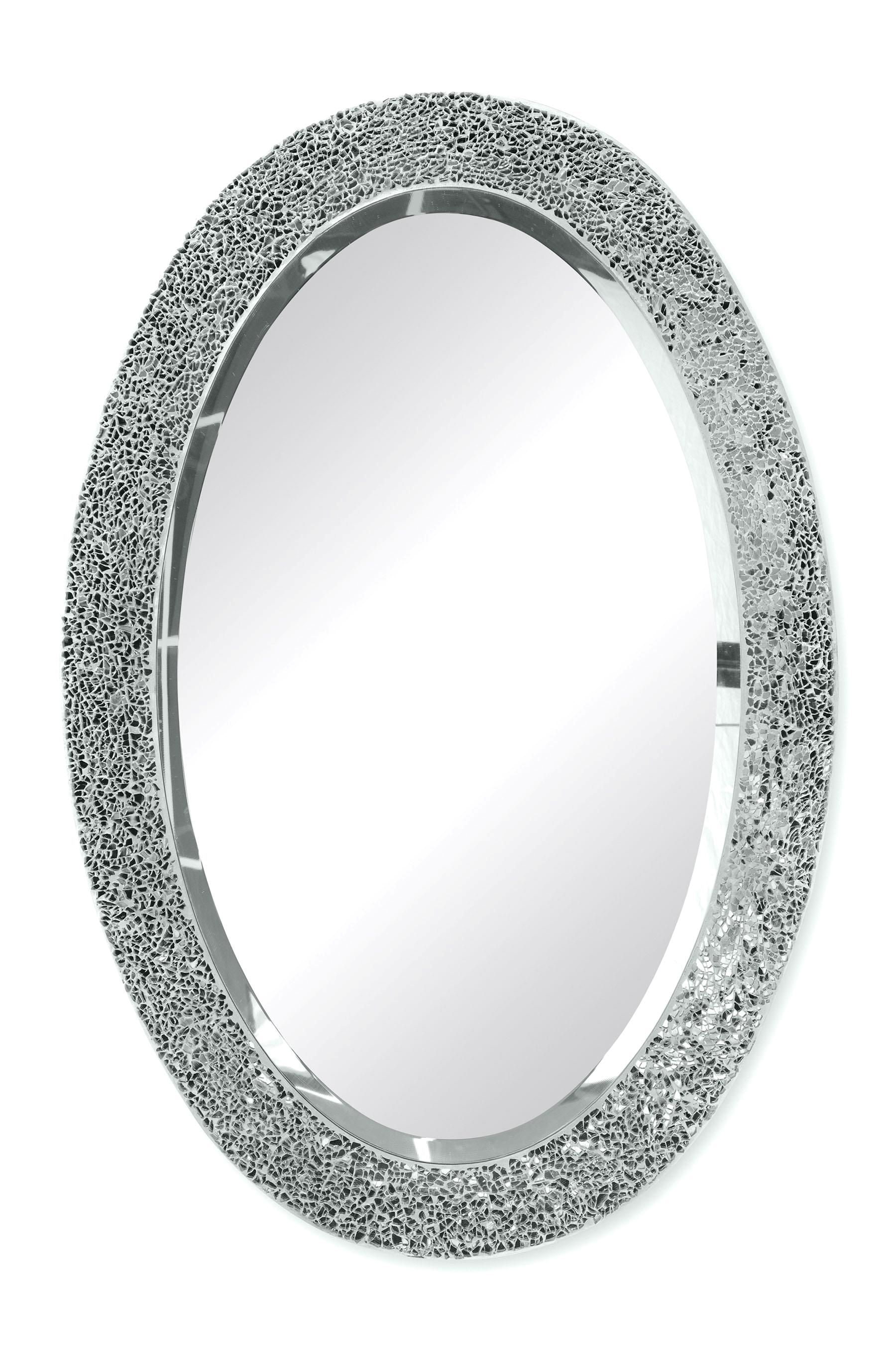 Spiegel Online Shop Buy Silver Coloured Sparkle Oval Mirror From The Next Uk Online