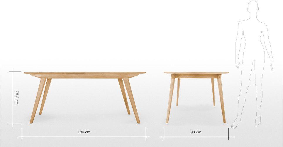 Aveiro Extending Dining Table, Oak | made.com