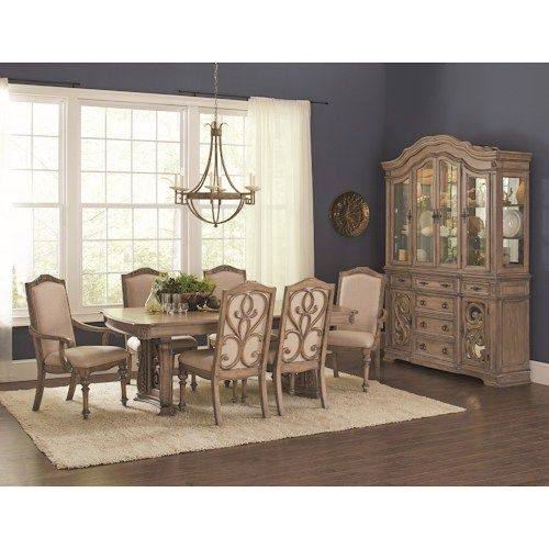 Coaster Ilana Traditional 7 Piece Table and Chair Set with Removable