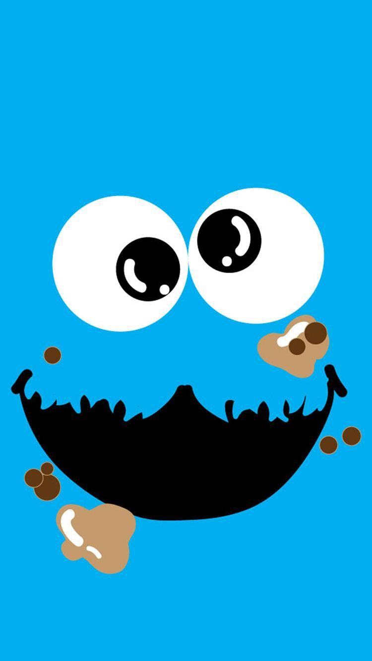 Pin By Flor Rodriguez On Wallpapers For Ip6 Cookie Monster Wallpaper Monster Cookies Cute Disney Wallpaper