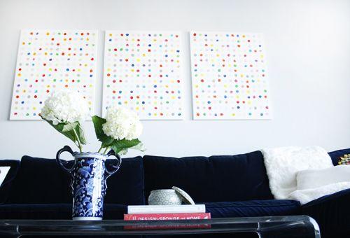 Parete A Pois Fai Da Te : Diy happy dots wall art