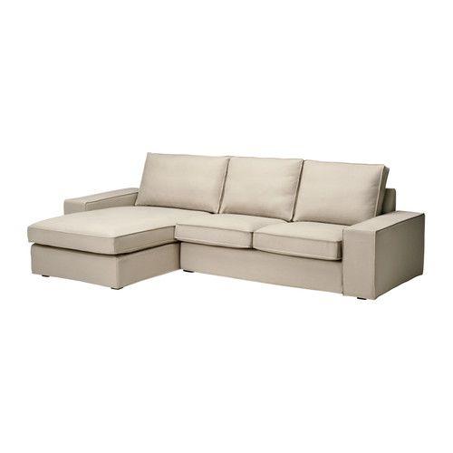 Kivik Loveseat And Chaise Lounge Dansbo Beige Ikea