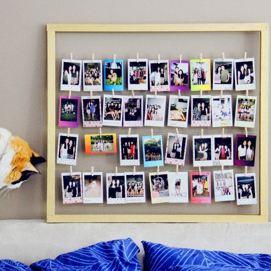 Create this easy Polaroid frame to display your most-loved Polaroids with  this easy tutorial! 5b9b8293b2