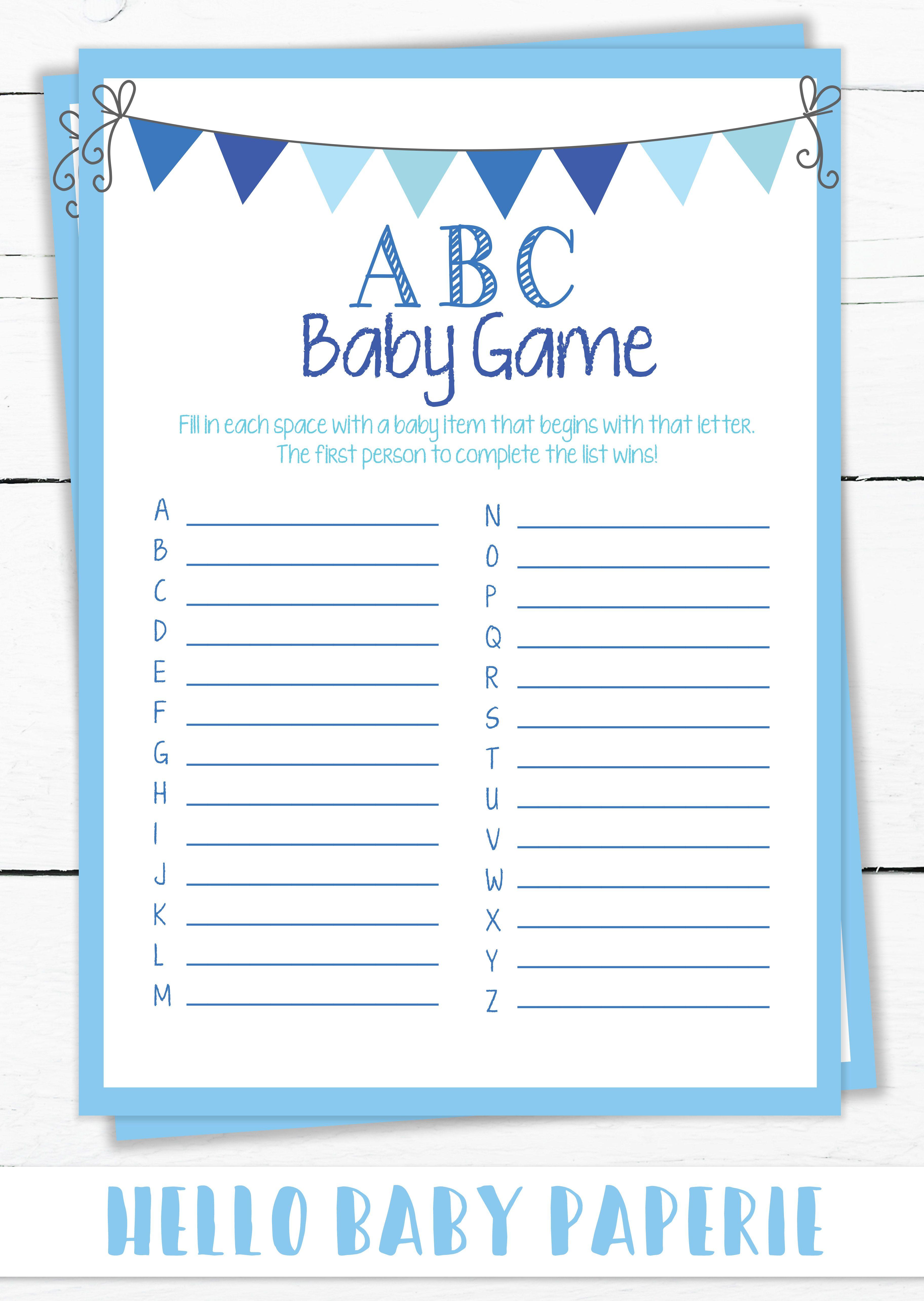 Boy Baby Shower Baby Shower Games Boy Baby Games Blue
