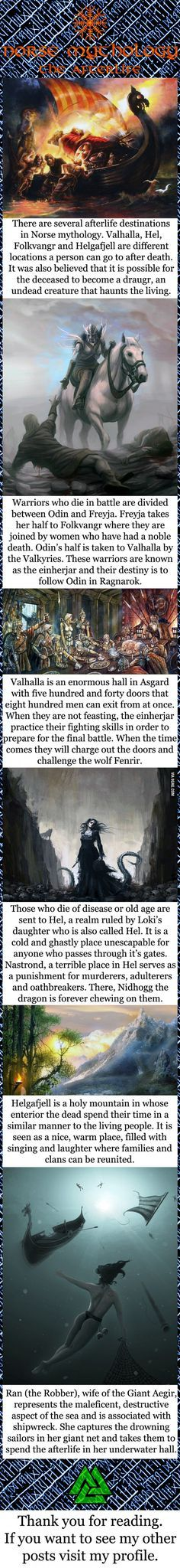 Norse mythology The Afterlife Norse mythology, Norse