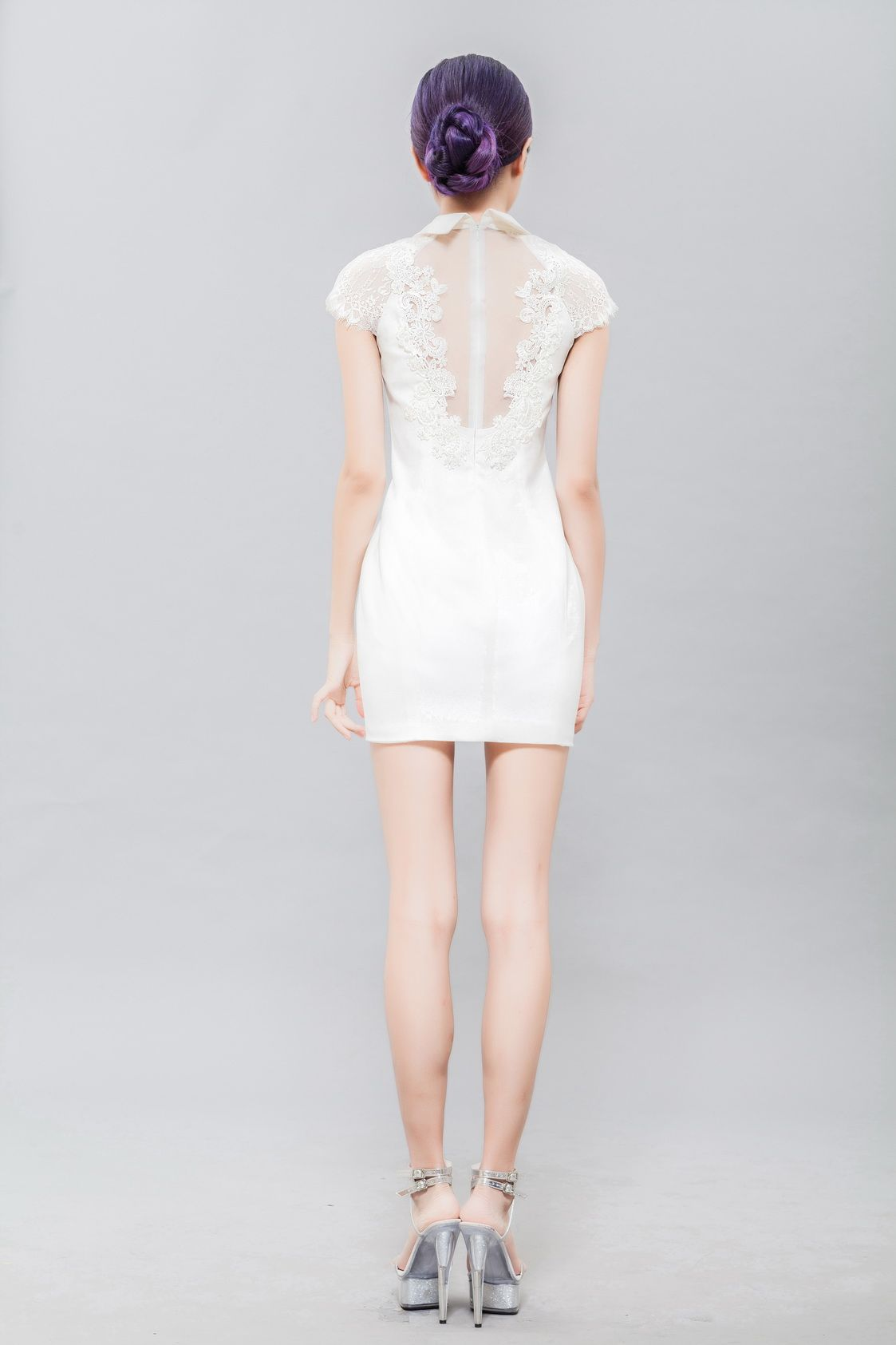 White simple dress back custom dress not instock if you are