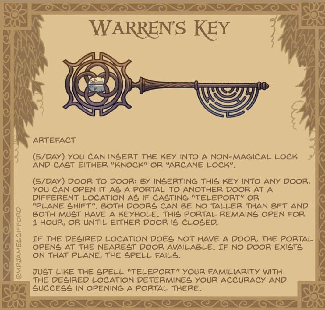 Warren S Key This Key Has Two Functions Arcane Lock Can Be Used On Any Non Magic Lock To Lock It Dungeons And Dragons Homebrew D D Dungeons And Dragons Dnd And today, i want to say about my problem. key has two functions arcane lock