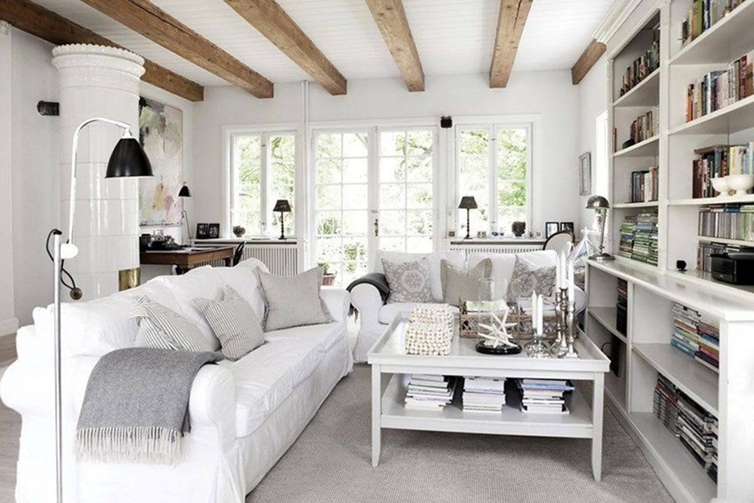 Your Guests Will Be Amazed With Modern Bright Rustic Living Room