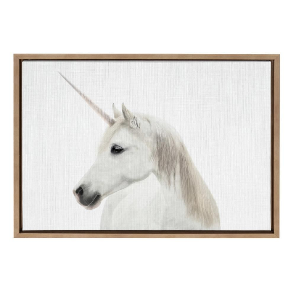 Unicorn Canvas Print Framed Animal Painting Wall Art Picture