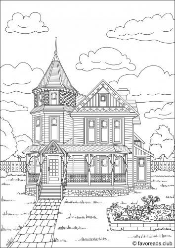 victorian mansion coloring pages - photo#7