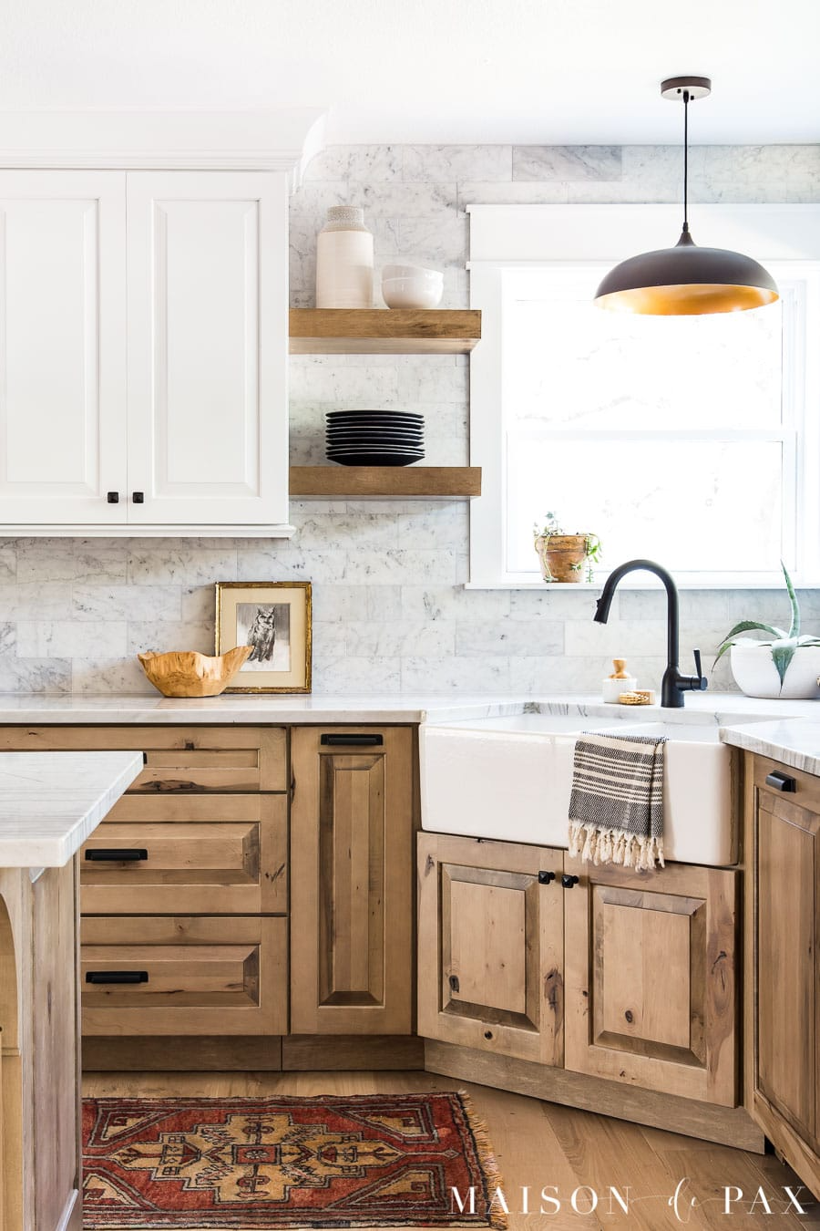 White and Wood Kitchen Reveal: Part 2
