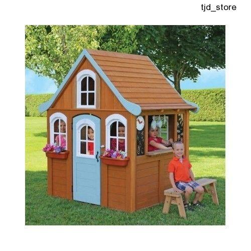 Pleasing Kids Wooden Playhouse Outdoor Garden Toy Cottage Wendy House Download Free Architecture Designs Intelgarnamadebymaigaardcom