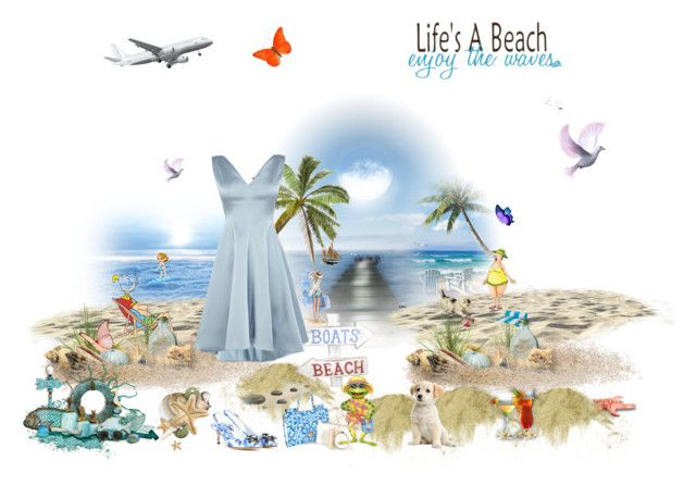 """""""Life's a beach enjoy the waves"""" by angela-coulter ❤ liked on Polyvore featuring Dolce&Gabbana"""