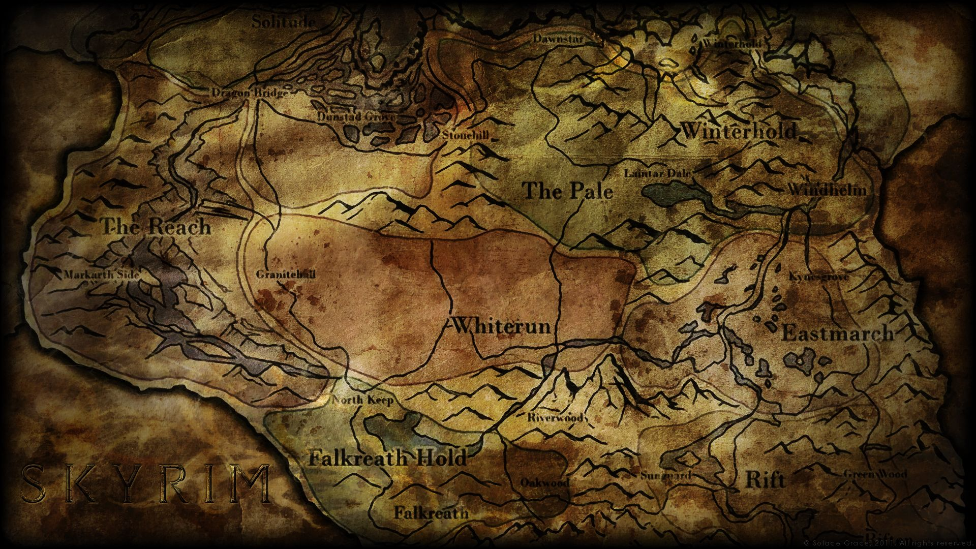 Skyrim Map Over 25 Different Maps Of Skyrim To Map Out Your Journey